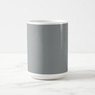 Silbernes Grau-personalisierter grauer Kaffeetasse