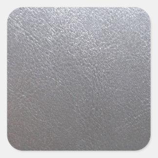 SILBERNES Grau-Schein: Ledernes Blick-Ende Quadrat-Aufkleber