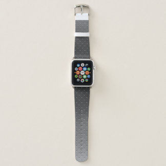 Silbernes Grau-Steigungs-Imitat-Metallmuster Apple Watch Armband