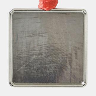Silbernes Grau-vereitelter Gewebe-Blick Silbernes Ornament