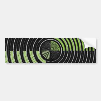 Silbernes grünes und schwarzes autoaufkleber