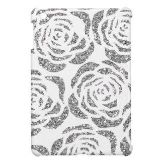 Silbernes Imitat-Glitter-Rosen kundenspezifisches iPad Mini Hülle