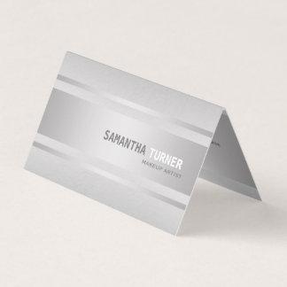 Silbernes LuxusImitat maserte berufliches Visitenkarten