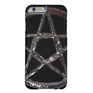 Silbernes Pentagram iPhone 6/6s, kaum dort Barely There iPhone 6 Hülle