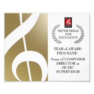 Silbernes Preis-Zertifikat Fotos