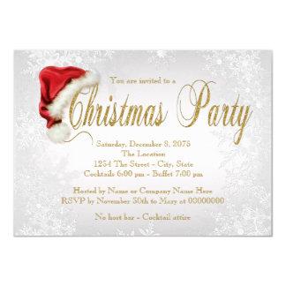 Silbernes Schneeflocke-WeihnachtsParty 11,4 X 15,9 Cm Einladungskarte