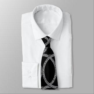 Silbernes Seil-gemusterte Krawatte