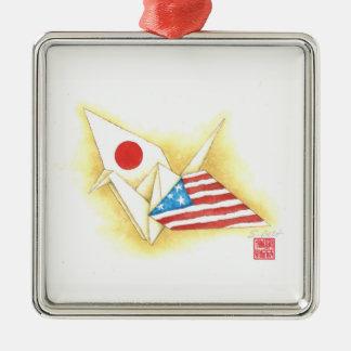 Silbernes Verzierung ~ Japan-USAfreundschaft Silbernes Ornament