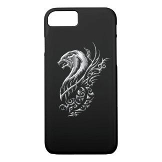 Silbernes Wolf-Schwarzes iPhone 7 Hülle
