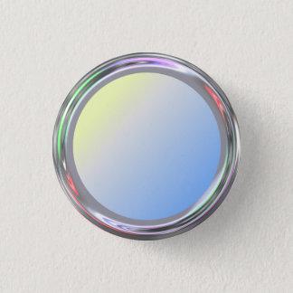 Silbriger Knopf für Text, Logo, Bild Runder Button 2,5 Cm
