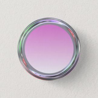 Silbriger Knopf für Text, Logo, Bild Runder Button 3,2 Cm