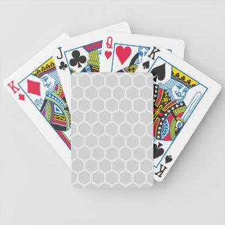 Silbriges Hexagon 1 Spielkarten