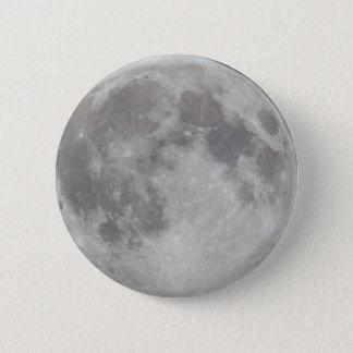 Silbriges Mondknopf-Abzeichen Runder Button 5,7 Cm