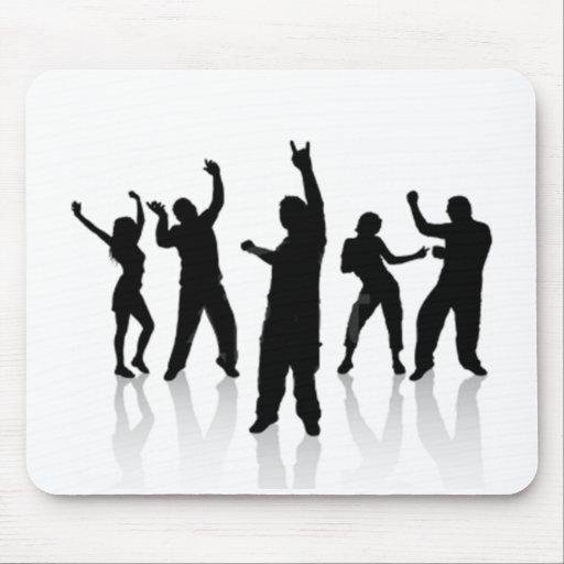 Silhouette danse tapis de souris