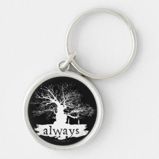 Silhouette de citation du charme   de Harry Potter Porte-clés
