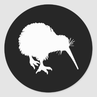 Silhouette de kiwi autocollants