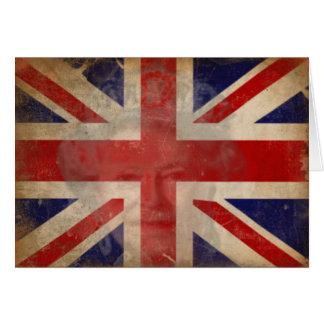 Silhouette der Königin-Elizabeth II auf Grußkarte