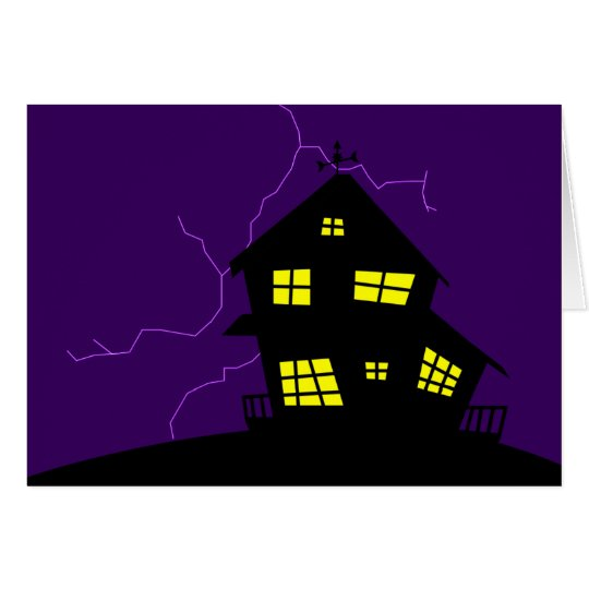 Silhouette-Hügel-Haus Karte