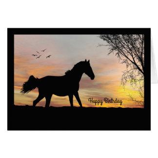 Silhouette-Pferd mit Grußkarte