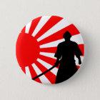 Silhouette Samurai. Runder Button 5,7 Cm