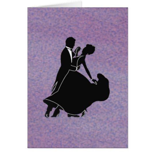 Silhouette-Tänzer Grußkarte