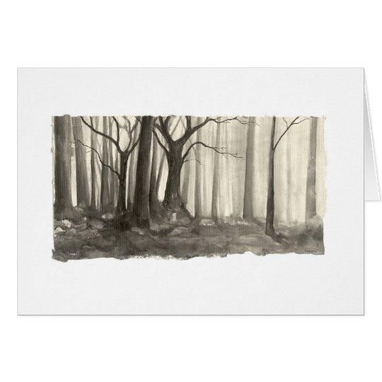 Silhouette-Wald Mitteilungskarte