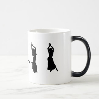 Silhouetten der Bauchtänzerinnen Tee Haferl