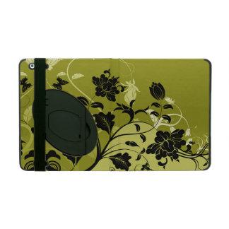 Silhouettes florales sur l'or coque iPad