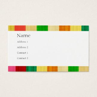 silk Farblinien, Name und Anschriftkarte Visitenkarte