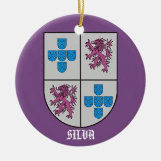 Silva-Familien-Wappen Weihnachten Keramik Ornament