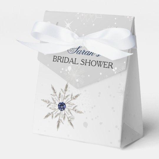 silve Schneeflocke-Brautparty-Bevorzugungskasten Geschenkschachtel
