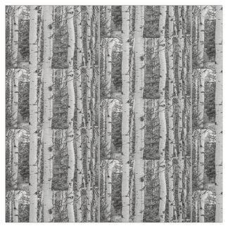 Silver birch Black and White Stoff