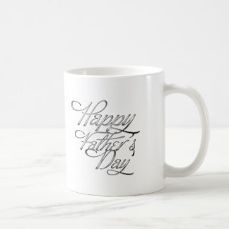 Silver Happy Fathers Day Tasse
