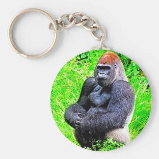 Silverback-Gorilla-Foto-Malerei Schlüsselanhänger
