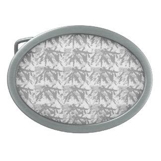 Silverline glänzendes chinesisches Ostmuster Ovale Gürtelschnalle