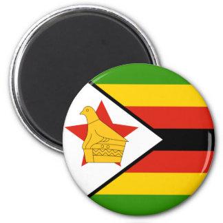 Simbabwe Runder Magnet 5,7 Cm