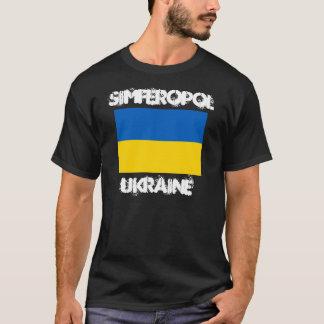 Simferopol, Ukraine mit ukrainischer Flagge T-Shirt