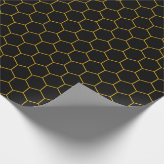 Simple honeycomb pattern with dark background geschenkpapier