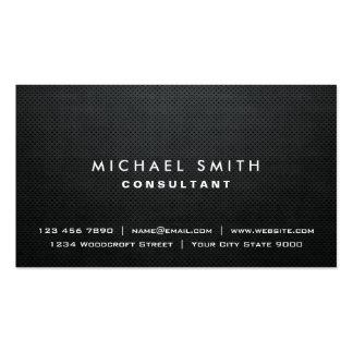 Simple moderne noir élégant simple professionnel carte de visite standard
