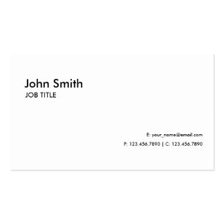 Simple simple moderne élégant professionnel blanc carte de visite standard