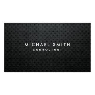 Simple simple noir moderne élégant professionnel carte de visite standard