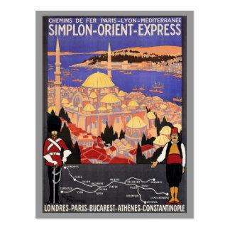 Simplon Orientexpress nach Konstantinopel Postkarte