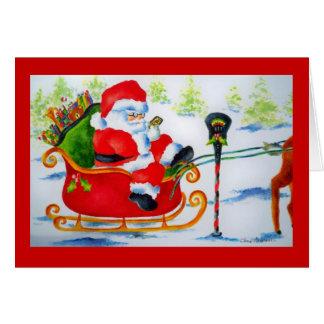 Simsen Sie Weihnachtsmann Karte