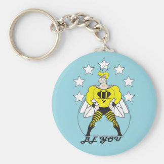 Sind Sie (Biene Sie) e-weiß Sterne Standard Runder Schlüsselanhänger