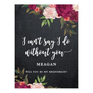 Sind Sie mein Blumen Brautjungfernkarte boho Postkarte