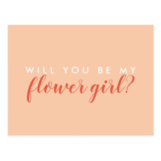 Sind Sie mein Blumen-Mädchen? Karte