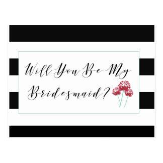 Sind Sie mein Brautjungfern-Antrag Postkarte