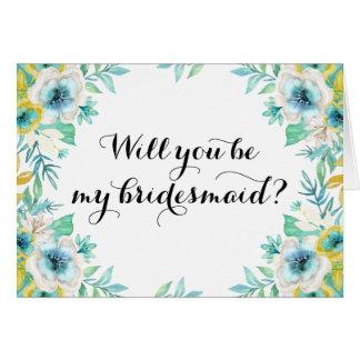 Sind Sie mein Brautjungfern-modernes Vintages Karte
