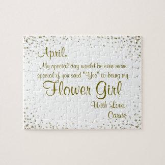 Sind Sie mein Flowergirl?