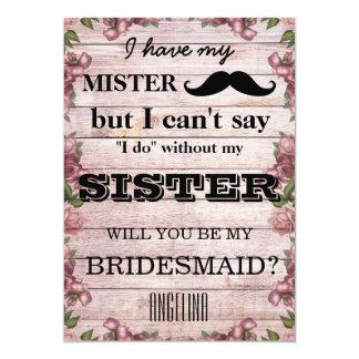 Sind Sie meine Brautjungfer? 12,7 X 17,8 Cm Einladungskarte